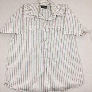 Men's Panhandle Slim Striped Pearl Snap Shirt 17